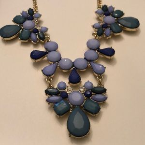 Green, blue, and gold Statement Necklace